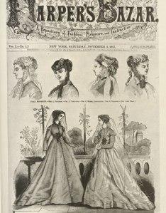 Första upplagan av Harper's Bazar, 1867